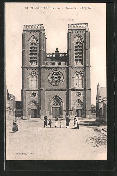 AK Villers-Bretonneux, l'Eglise / Kirche