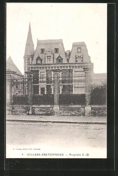 AK Villers-Bretonneux, Propriété E.-D., Villa