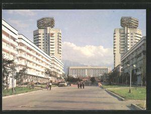 AK Alma-Ata, K. Baiseitova-Strasse mit Neubauten