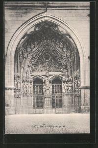 AK Bern, Blick auf das Münsterportal
