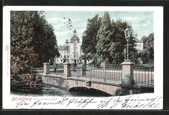 AK Bückeburg, Motiv der Schlossbrücke