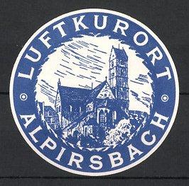 Reklamemarke Alpirsbach, Luftkurort, Kirche