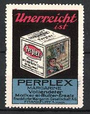 Reklamemarke Frankfurt a.M., Perplex Margarine, Frankfurter Margarine-Gesellschaft AG, Packung Margarine