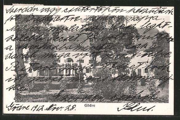 AK Gödre, Blick auf ein Haus