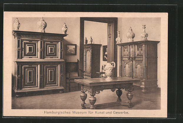 ak hamburg st georg museum f r kunst gewerbe raum 12 niederl ndische sp trenaissance nr. Black Bedroom Furniture Sets. Home Design Ideas