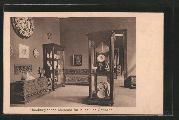 ak hamburg st georg museum f r kunst gewerbe raum 8. Black Bedroom Furniture Sets. Home Design Ideas