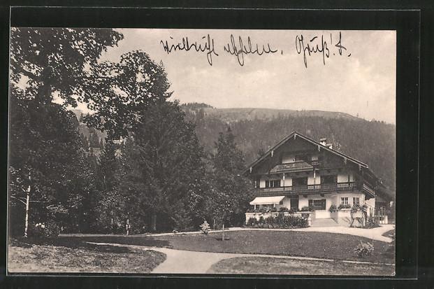 AK Bayrischzell, Blick auf ein Oberbayerisches Haus