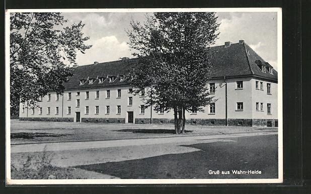 AK Köln-Wahn, Gebäude auf dem Truppenübungsplatz Wahn-Heide