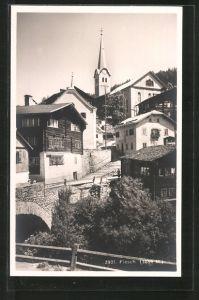 AK Fiesch, Ortspartie mit Blick zur Kirche