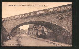 AK Charleval, le pont du chemin de fer á l'entrée du pays