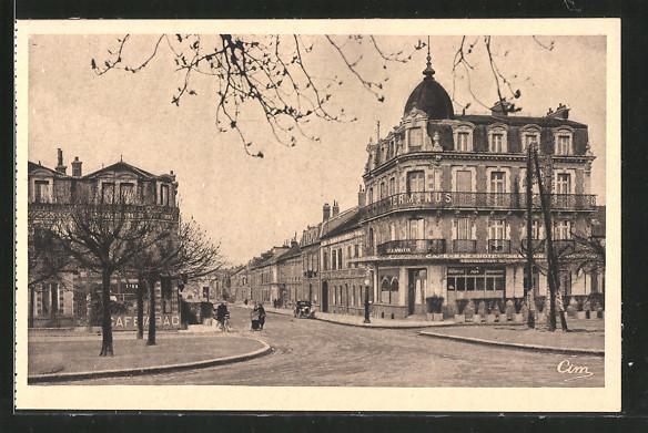 AK Romilly-sur-Seine, rue Carnot, hôtel Terminus