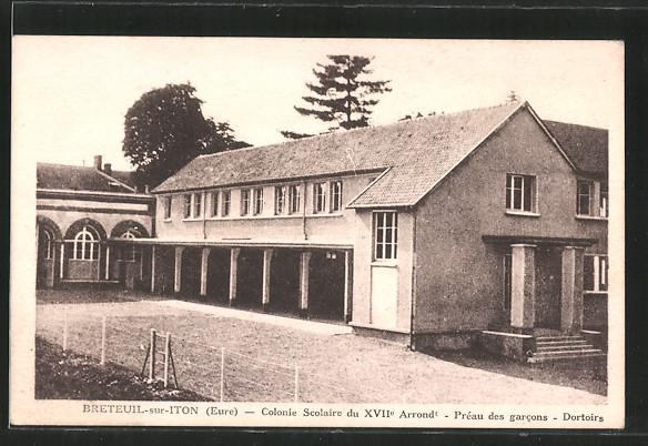 AK Breteuil-sur-Iton, colonie scolaire, dortoirs