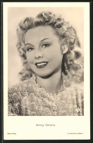 AK Portrait der Schauspielerin Anny Ondra