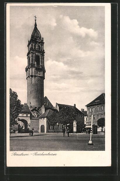 AK Bautzen, Reichenturm mit Reichentor