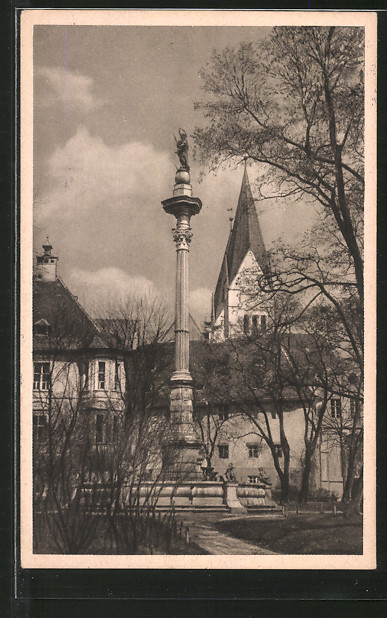 AK Eichstätt, Residenzplatz mit Mariensäule