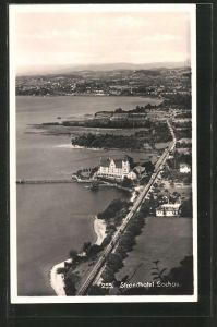 AK Lochau, Strandhotel aus der Vogelschau