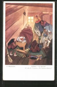 Künstler-AK Zofia Stryjenska: Guslarz, der Zauberer