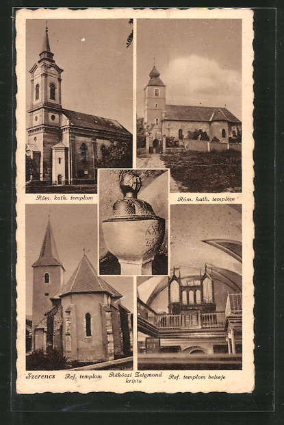 AK Szerencs, Ref. templom, Rom. kath. templom, Rakoczi Zsigmond kripta, ref. templom belseje