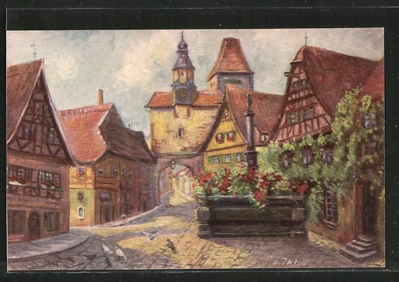 Künstler-AK Degi Nr. 1460: Rothenburg ob der Tauber