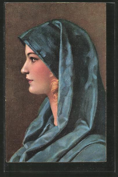 Künstler-AK Stengel & Co. Nr. 29469: Anita, Porträt einer jungen Frau