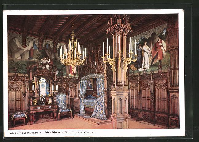 AK Schloss Neuschwanstein, Schlafzimmer, Bild \