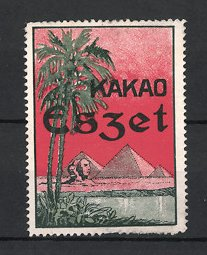 Reklamemarke Eszet Kakao, Sphinx & Pyramiden bei Giseh - Ägypten