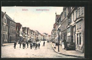 AK Uelzen, Lüneburgerstrasse mit Kindern