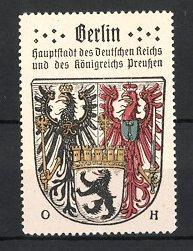 Reklamemarke Berlin, Hauptstadt des Deutschen Reichs & Königreich Preussen, Wappen