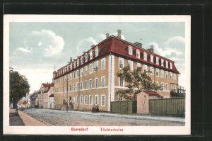 AK Ebersdorf, Strassenpartie mit Töchterheim