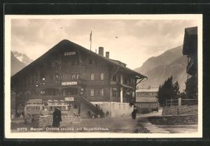 AK Maloja, Osteria vecchia und Segantinihaus, Hotel Schweizerhaus