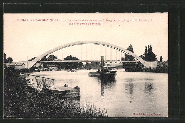 AK St-Pierre-du-Vauvray, Nouveau Pont en ciment armé