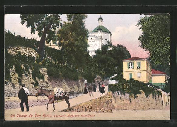 AK San Remo, Santuario Madonna della Costa