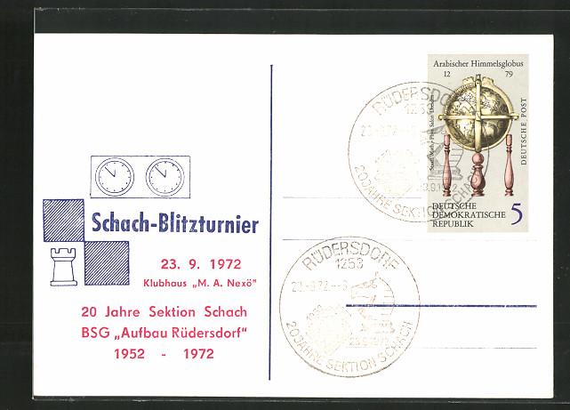 AK Rüdersdorf, 20 Jahre Sektion Schach BSG Aufbau Rüdersdorf 1952-1972, Schach-Blitzturnier