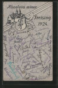 AK Freising, Absolvia minor 1924, Studentenwappen