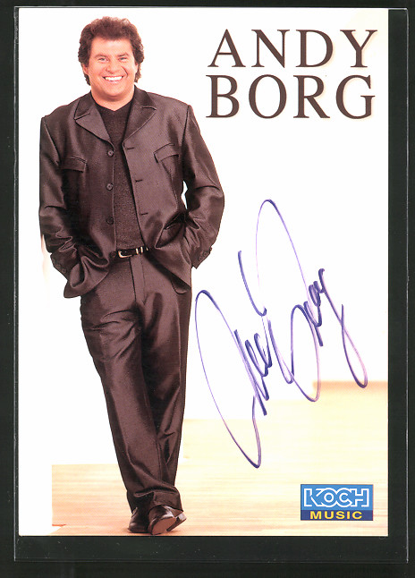AK Musiker Andy Borg im Anzug