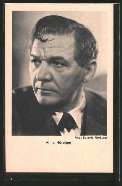 AK Schauspieler Attila Hörbiger im Anzug