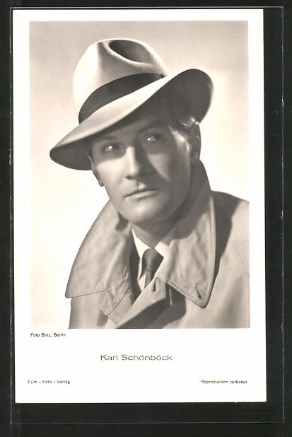 AK Schauspieler Karl Schönböck mit Hut