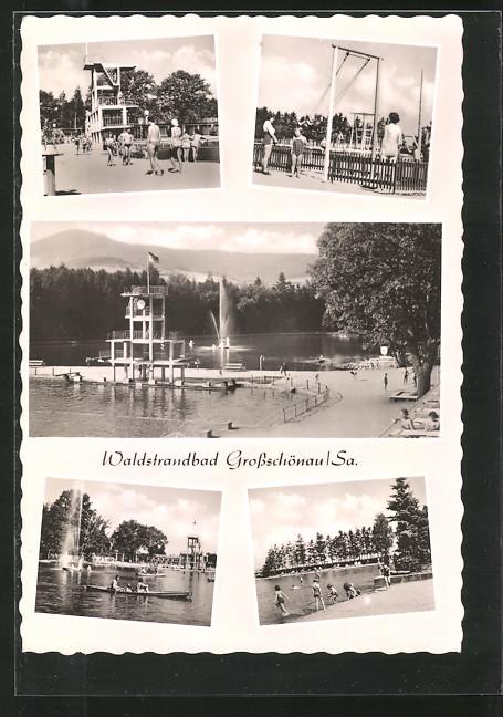 AK Grossschönau, Waldstrandbad, Gondelteich, Sprungturm