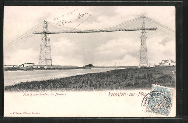 AK Rochefort-sur-Mer, Pont à Transbordeur de Martrou, Schwebefähre
