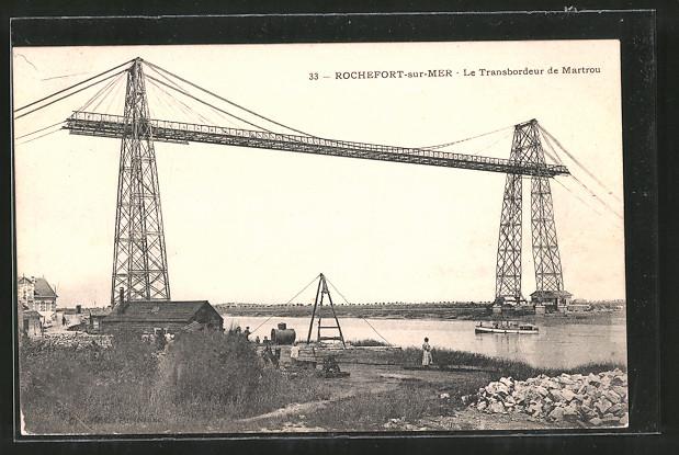 AK Rochefort-sur-Mer, le Transbordeur de Martrou, Schwebefähre