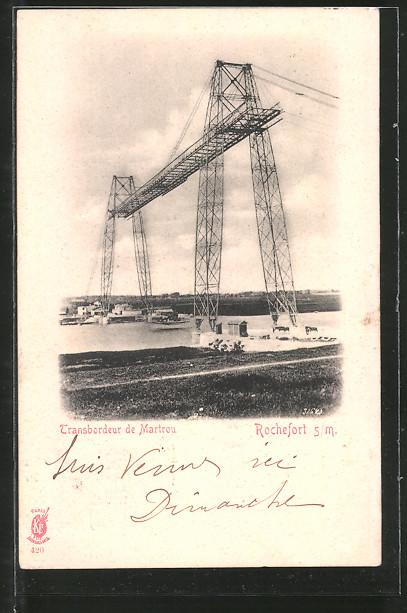 AK Rochefort, Schwebefähre, Pont Transbordeur de Martrou