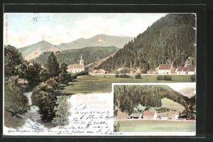 AK Wegscheid, Gasthof zur Post und Postamt, Gesamtansicht