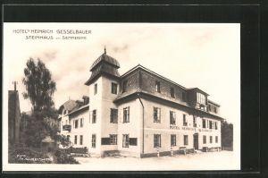 AK Steinhaus am Semmering, Hotel Heinrich Gesselbauer