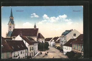 AK Gleisdorf, Florianplatz aus der Vogelschau