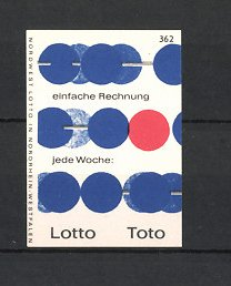 Reklamemarke Lotto - Toto, Nordwest-Lotto Nordrhein-Westfalen