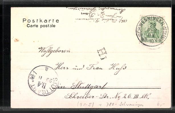 AK Schwenningen, Ausflügler an der Neckarquelle 1