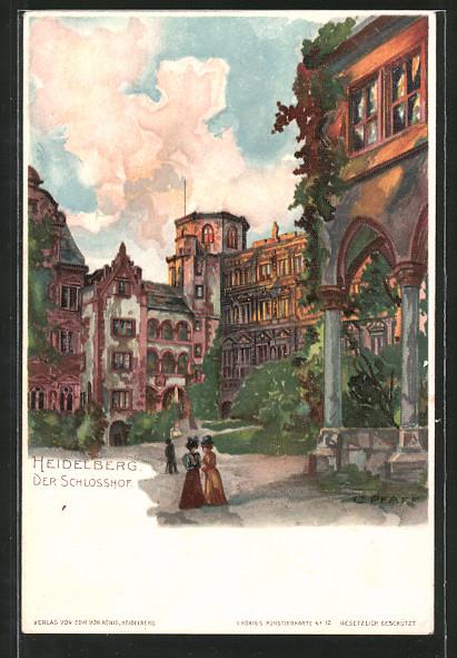 Künstler Heidelberg künstler lithographie c pfaff heidelberg spaziergänger im