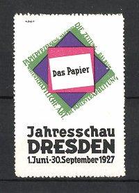 Reklamemarke Dresden, Jahresschau