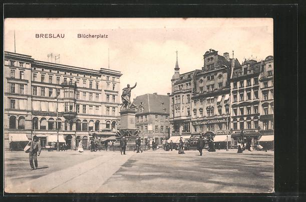 https://img.oldthing.net/7580/24563522/0/n/6858848/AK-Breslau-Bluecherplatz-mit-Denkmal-und-Geschaeften.jpg