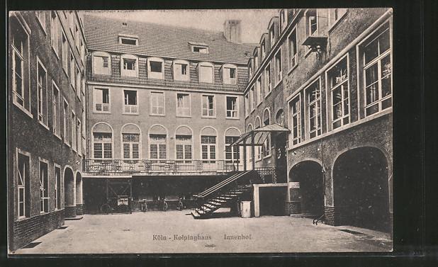 AK Köln, Kolpinghaus, Innenhof